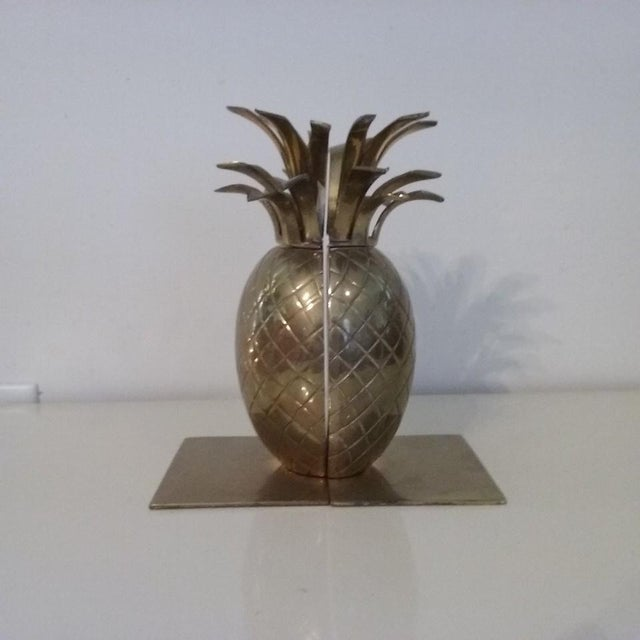 Image of Palm Beach Chic Regency Brass Pineapple Bookends