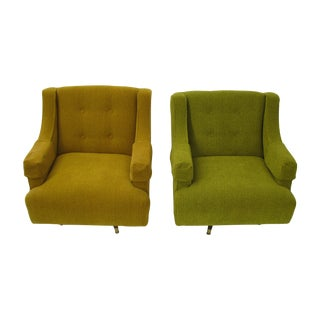 Mid Century Modern Pair of Upholstered Chairs