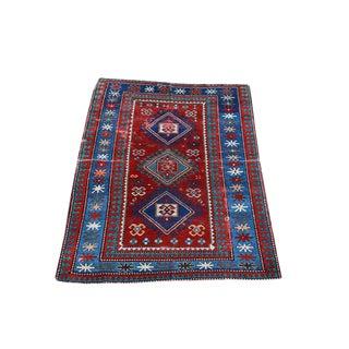 Antique Kazak Rug - 4′3″ × 6′6″