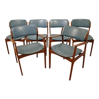 Mid-Century Danish Modern Erik Buch Mobler Teak Dining Chairs - Set of 6