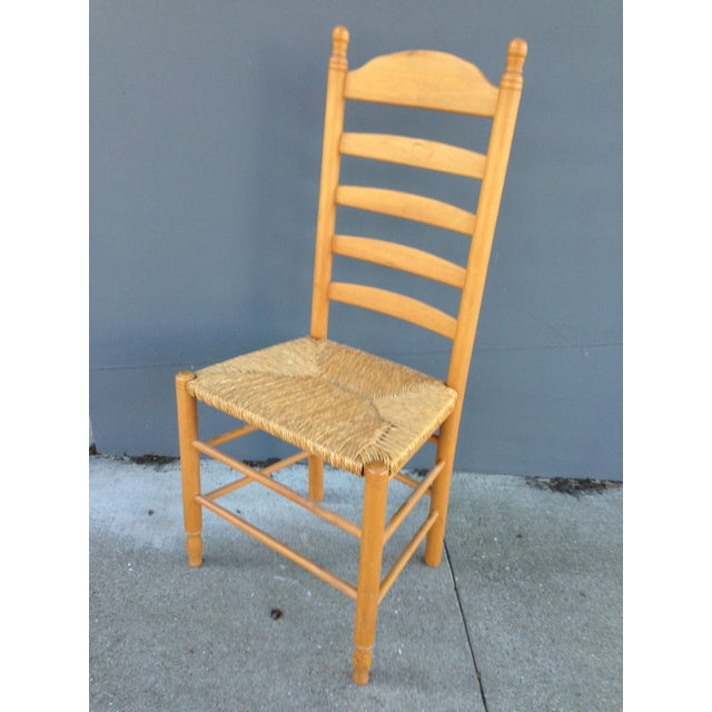 Rush Seat Ladder Back Chairs - A Pair - Image 3 of 3