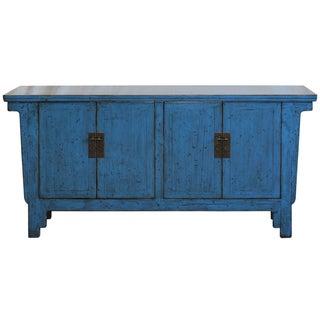 Bold Blue Sideboard