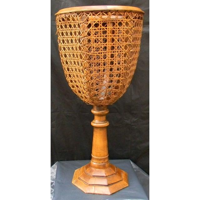 Vintage Italian Pedestal Hand Caned Flower Urn - Image 2 of 10