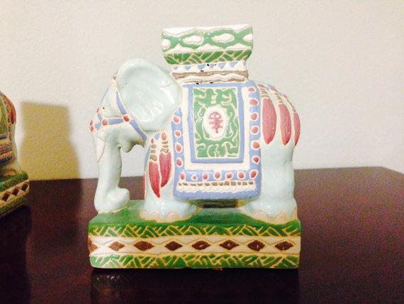 Vintage Elephant Garden Stool