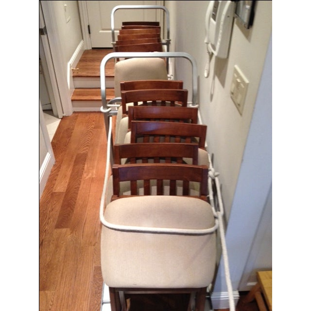 Image of Stackmore Mission Chairs With 2 Carts - Set of 12