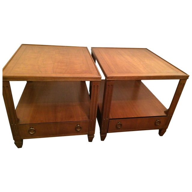 Baker Mid-Century Tables - Pair - Image 1 of 6