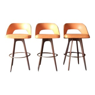 Chet Beardsley Mid-Century Barstools - Set of 3