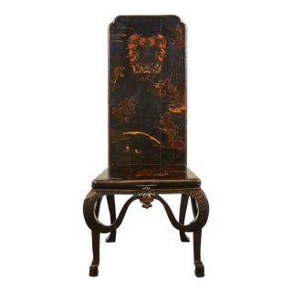 19th Century English Chinoiserie Hall Chair