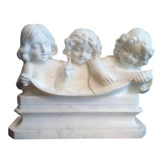 Vintage Italian Marble Choir Bust