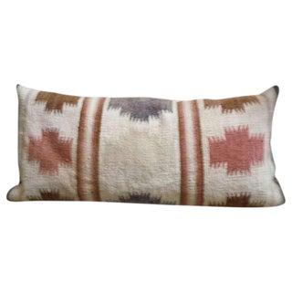 Large Navajo Indian Weaving Bolster Pillow