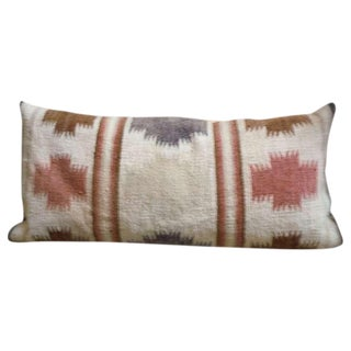 Large Navajo Indian Weaving Bolster Pillow