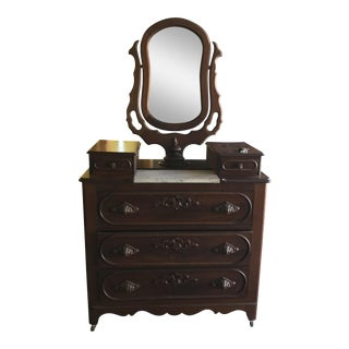 American Victorian Dresser With Swing Mirror