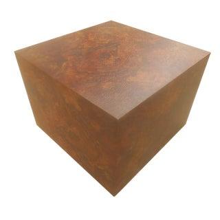 1970s Milo Burl Wood Laminate Cube Table