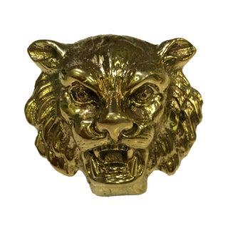 Victorian Style Lion Head Brass Knobs - Set 10