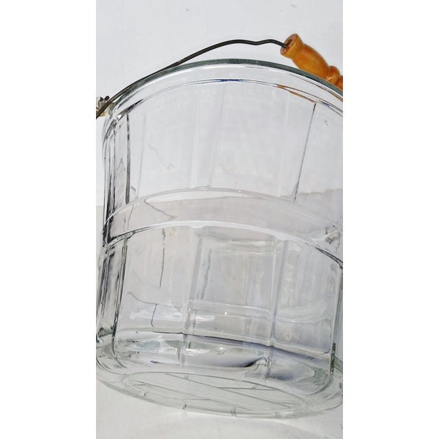Vintage Glass Bucket W Handle, Wine Cooler - Image 4 of 7