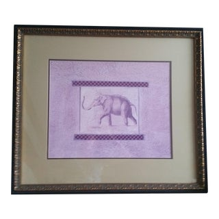 Large Green & Purple Elephant Print