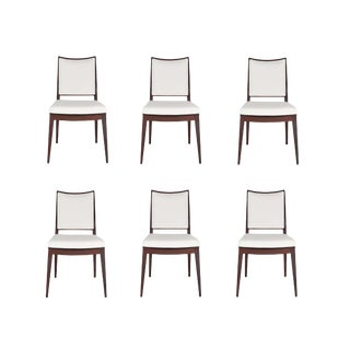 Set of 6 Frame Back Dining Chairs