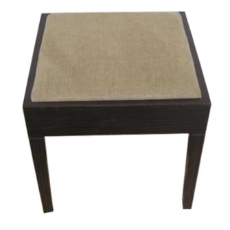 Image of Amtrend Dark Wood Finish/Grey Upholstery Stool