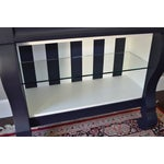 Image of Antique Empire Buffet Bar in Navy Blue & White