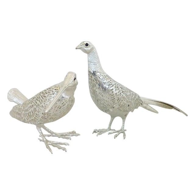 Christofle Silverplated Pheasant & Woodcock - Image 1 of 6