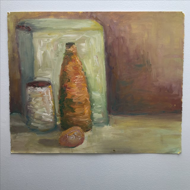 Vintage Abstract Still Life Painting - Image 3 of 11