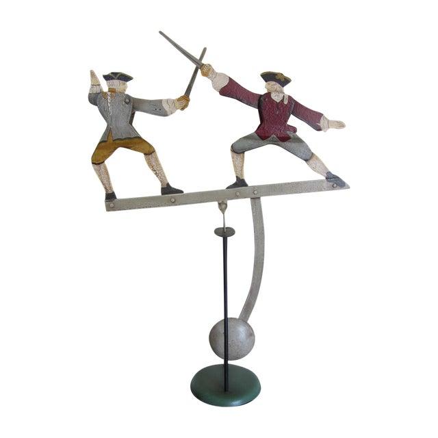 """The Duel"" Balancing Folk Art - Image 1 of 8"
