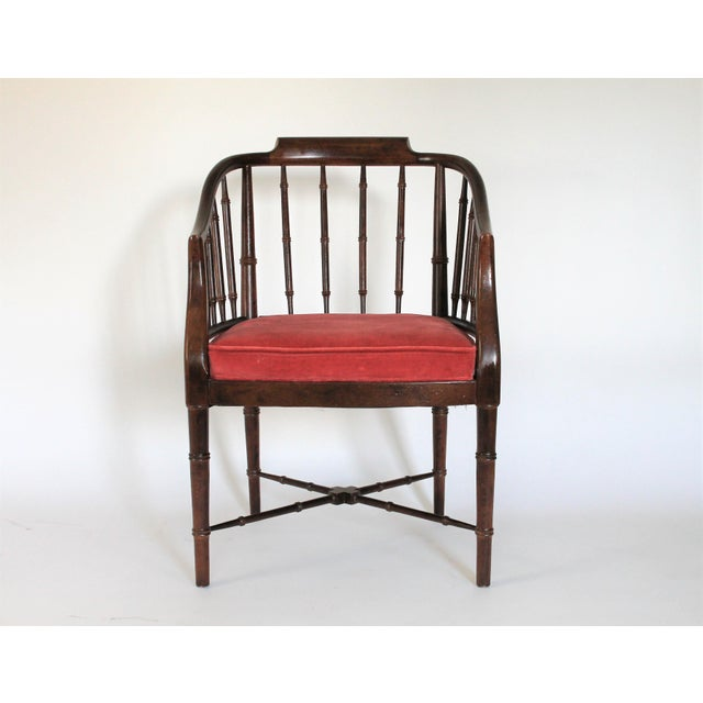 Faux Bamboo Armchair - Image 2 of 8