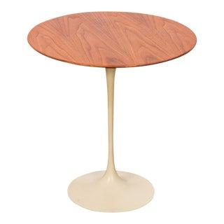 Vintage Walnut Tulip Side Table by Eero Saarinen for Knoll Associates