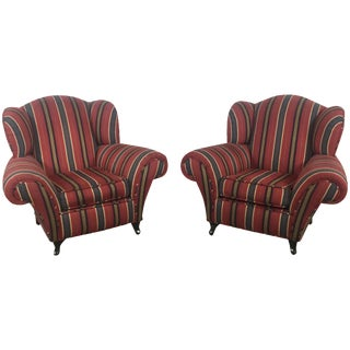 Kravet Club Chairs - A Pair