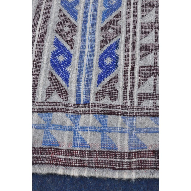 "Moroccan Flatweave Violet & Blue Rug - 4'10"" x 7' - Image 5 of 8"