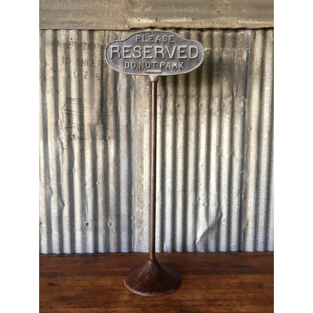 Vintage Cast Iron Curb Sign - Image 3 of 9