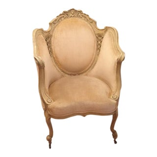 Baroque Cream Velvet Chair