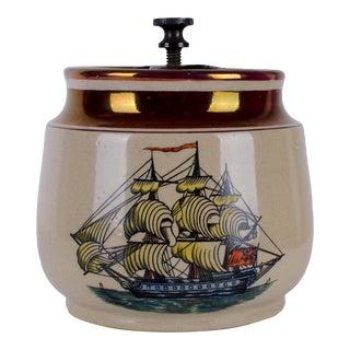 Gray's Pottery Ship Humidor