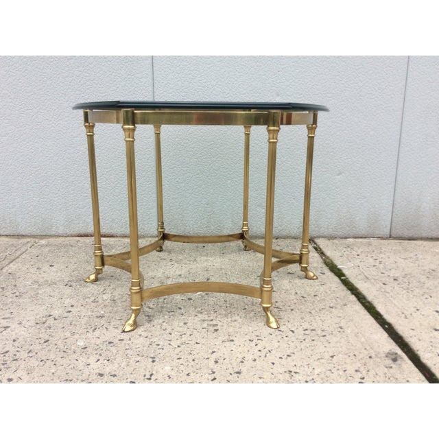 Vintage La Barge Octagonal Brass Side Table - Image 3 of 8
