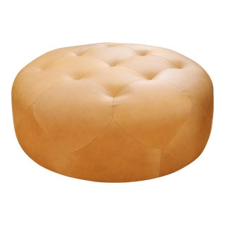Genuine Round Leather Ottoman/Coffee Table