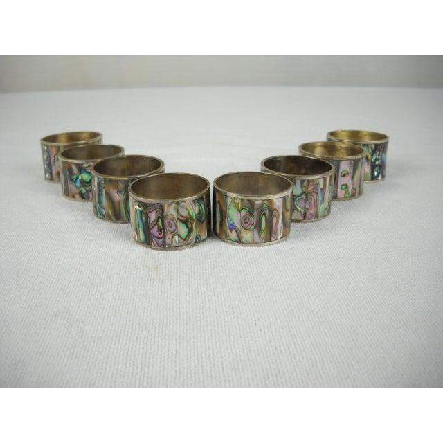 Abalone Shell Napkin Rings - Set of 8 - Image 5 of 8