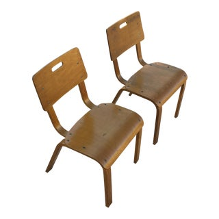Mid-Century Thonet Bentwood Child's Chairs - A Pair