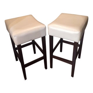 Leather Counter Stools - A Pair