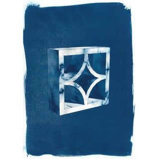 Cyanotype Print - 3D Screen Block
