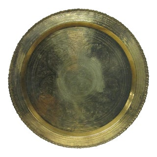 Chinese Brass Tray Wall Decor