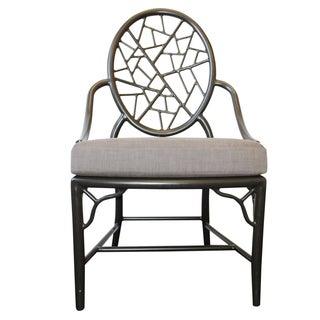 McGuire Cracked Ice Garden Arm Chair
