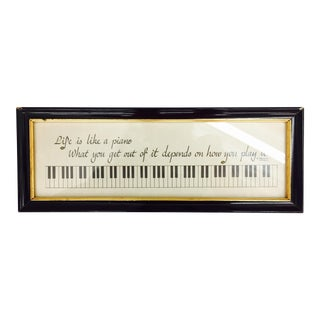 "1983 ""Life Is Like a Piano"" Framed Print"