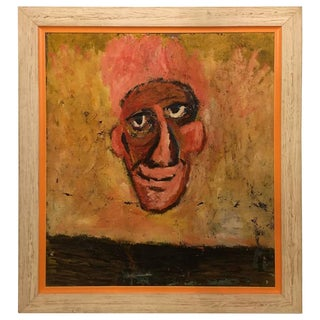 """""""The Nose"""" Framed Oil on Masonite Painting"""