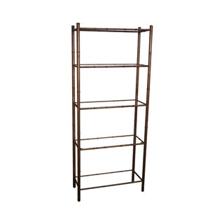 Vintage Hollywood Regency Faux Bamboo Etagere