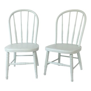 Antique Painted Children's Chairs - A Pair