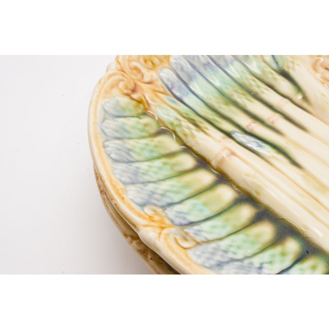 Image of French Majolica Platter & Two Plates