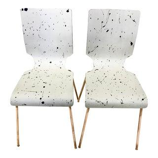 Splatter Paint Chairs - Pair