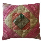 Image of Vintage Indian Sari Quilt Pillow