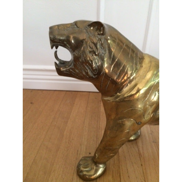 Large Vintage Brass Tiger - Image 7 of 9