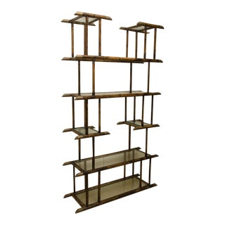 Attractive Vintage Bamboo Etagere